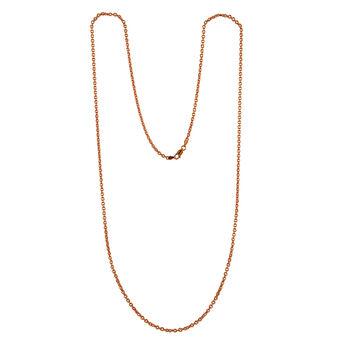 Collier sautoir arrondie ovale or rose, J00563-03-60, hi-res