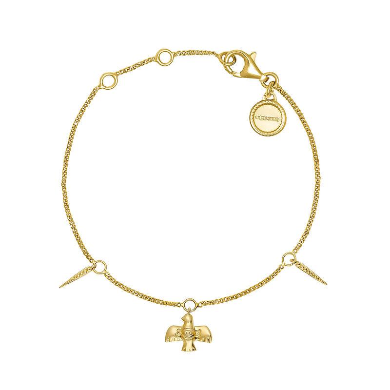 Gold plated bird bracelet, J04557-02, hi-res