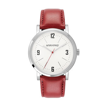 Montre Brooklyn bracelet rouge, W45A-STSTGR-LERD, hi-res