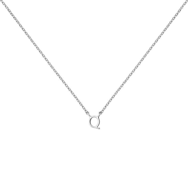 Collier iniciale Q or blanc, J04382-01-Q, hi-res