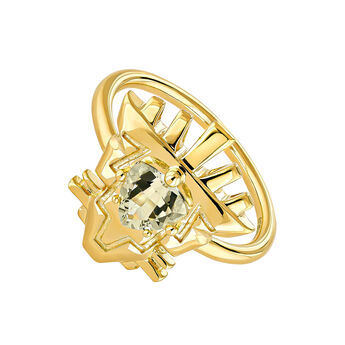 Anillo fantasía cuarzo plata recubierta oro, J04565-02-GQ, hi-res