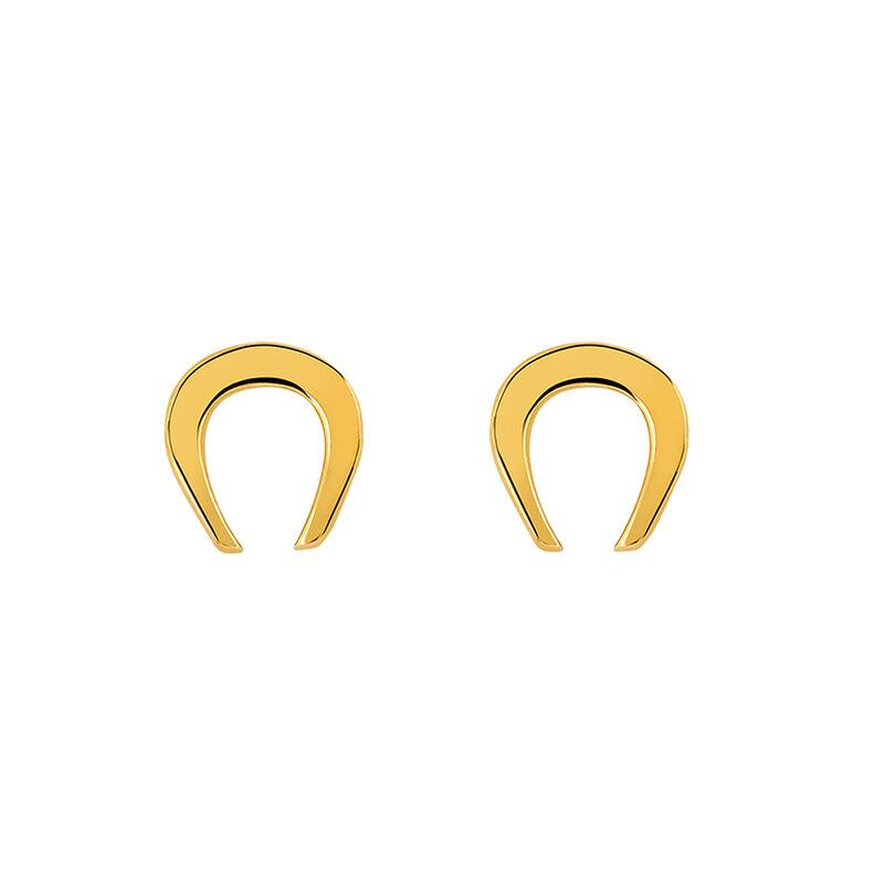 Pendientes herradura oro, J03141-02, hi-res