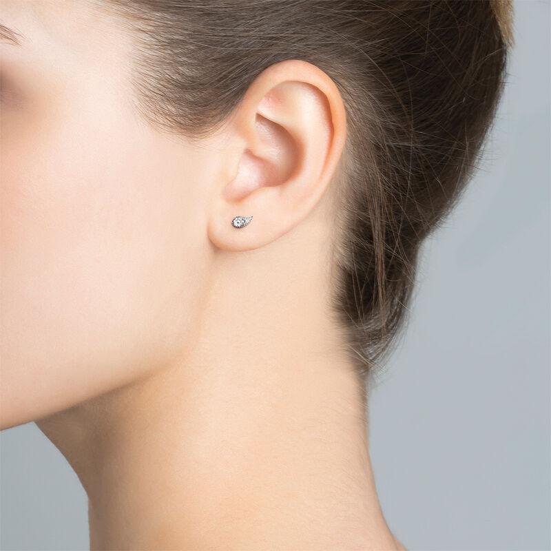 White gold diamond earring piercing 0.07 ct, J03385-01-H, hi-res