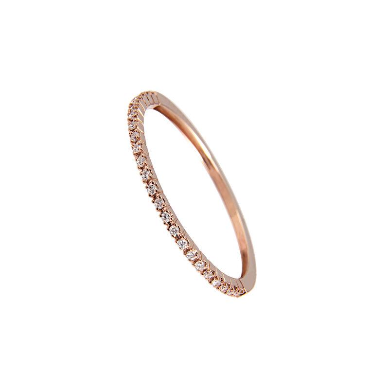 Anillo fino diamantes oro rosa 0,1 ct, J00325-03-05, hi-res