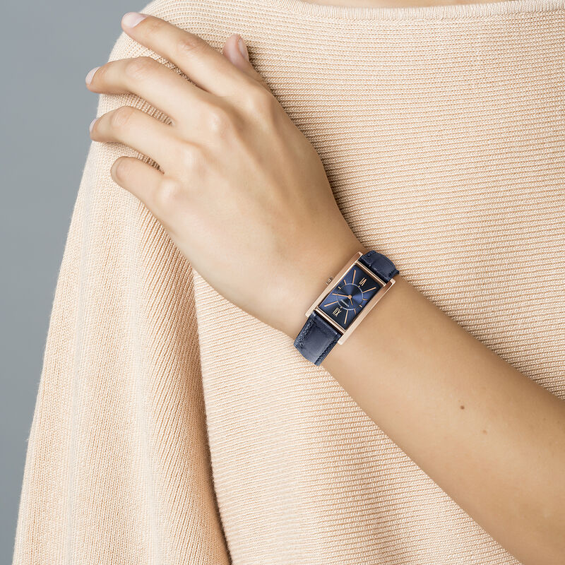 Montre Le Marais bracelet cuir bleu, W47A-PKPKBU-LEBU, hi-res