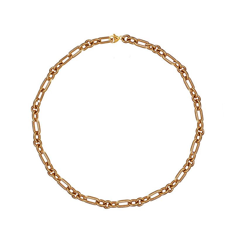 Cadena forzá mix eslabones oro rosa, J01336-03, hi-res