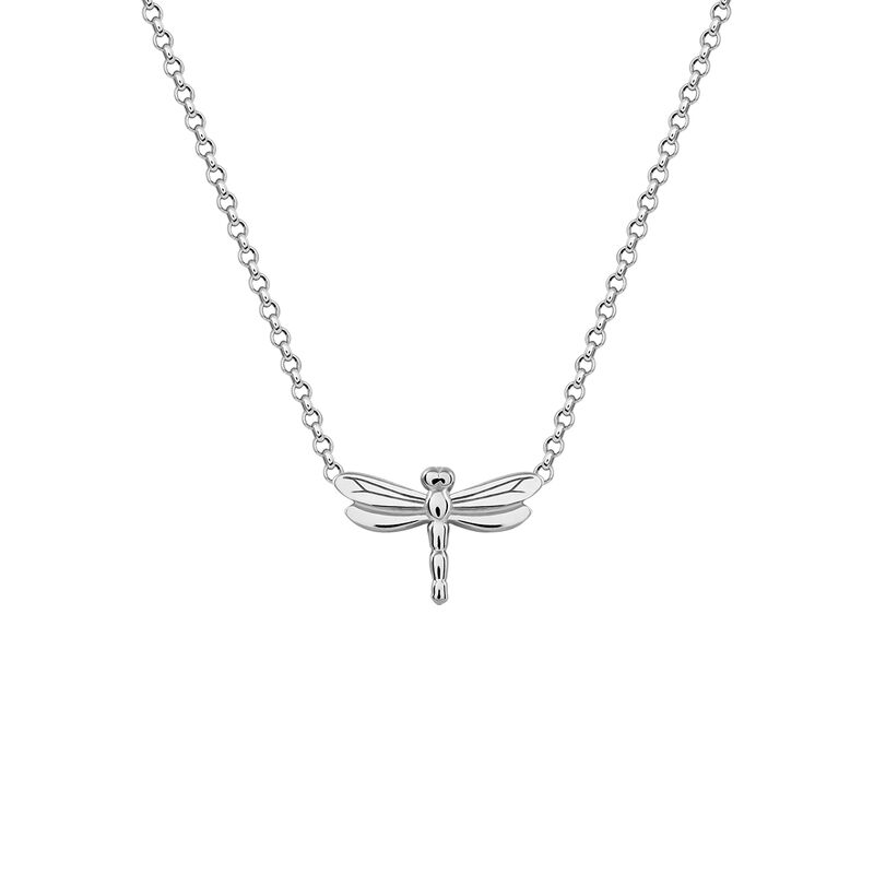 Silver dragonfly necklace, J03183-01, hi-res