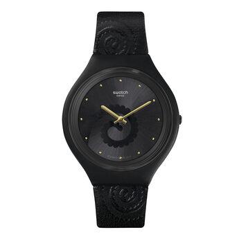 Montre Swatch x Aristocrazy noire + bracelet caméléon, CHAMESKIN, hi-res