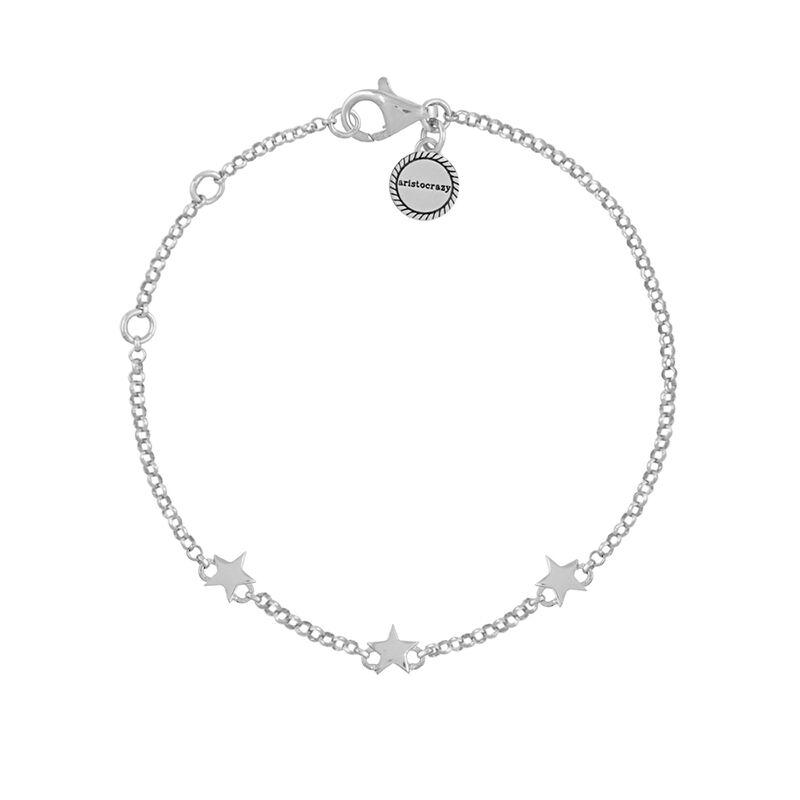 Silver mini stars bracelet, J01898-01, hi-res