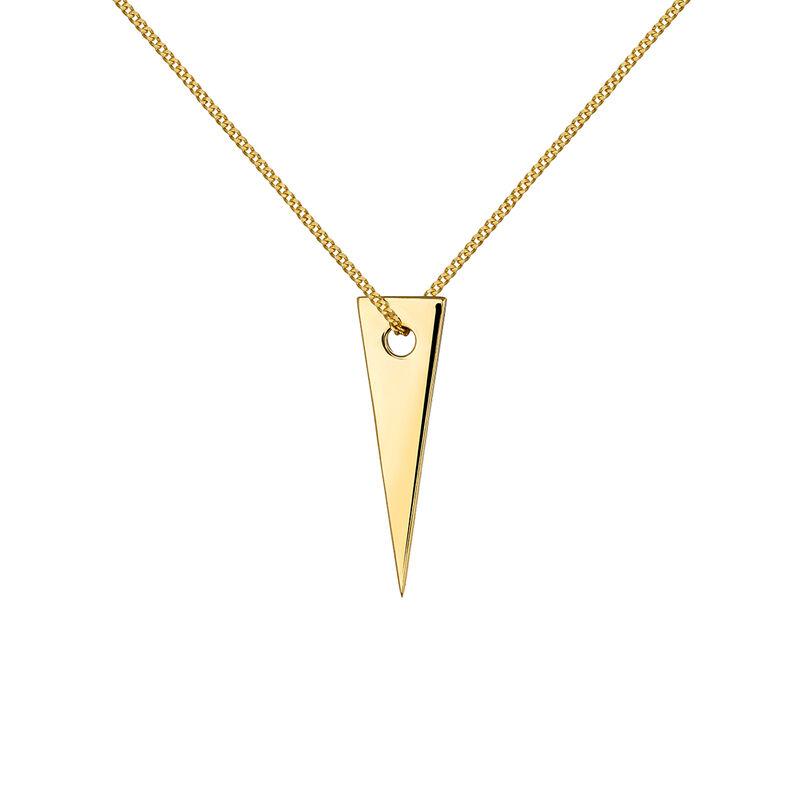 Colgante triángulo oro, J03970-02, hi-res