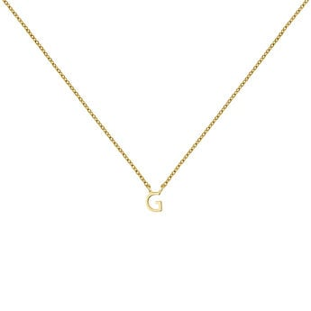 Gold Initial G necklace, J04382-02-G, hi-res