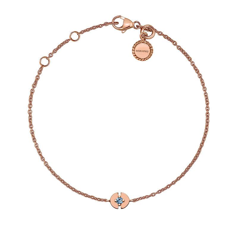 Pulsera círculo topacio plata recubierta oro rosa, J03747-03-LB, hi-res