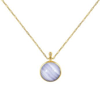 Large necklace blue agate, J04128-02-BLAG-WT, hi-res
