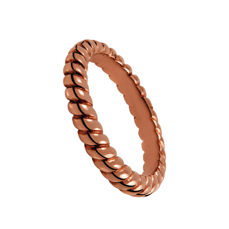 Simple rose gold plated cabled ring, J00588-03-NEW, hi-res