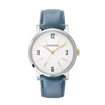 Montre Brooklyn bracelet bleu, W45A-STSTWP-LEBU, hi-res