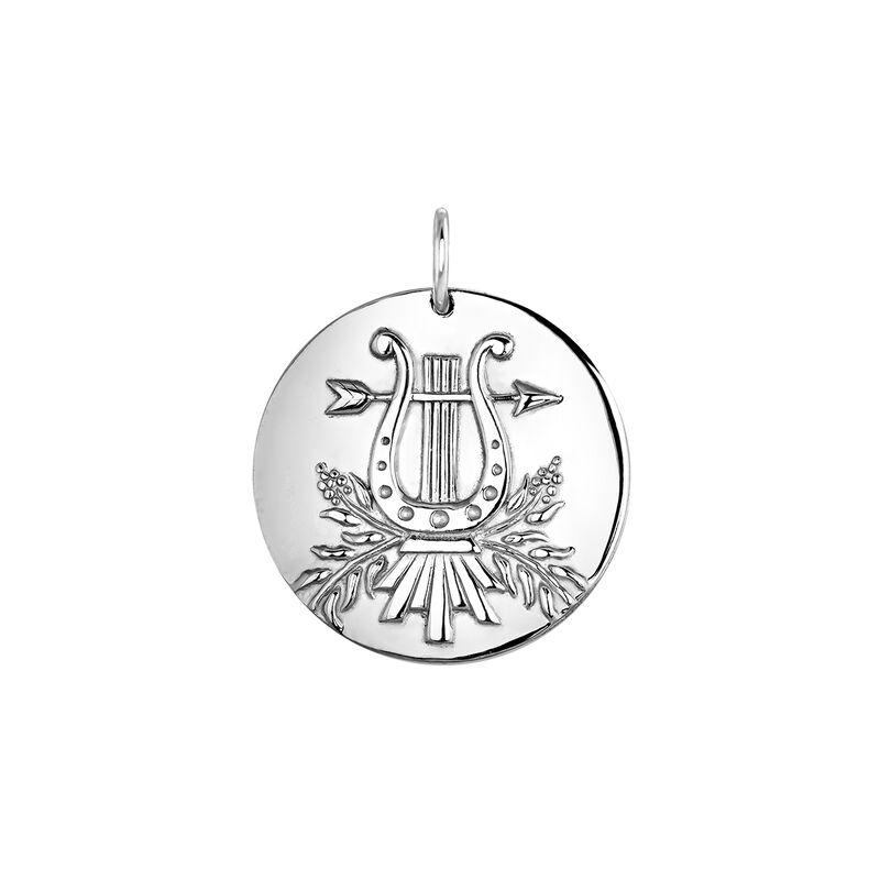 Silver lyre pendant, J04153-01, hi-res