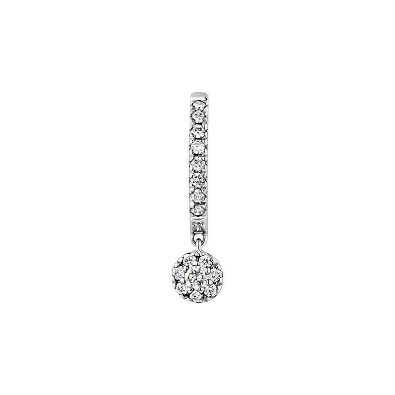 White gold 0.12 ct diamond hoop earring, J04178-01-12-H, hi-res