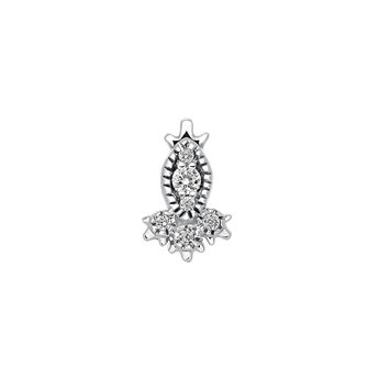 Marquise diamond earring piercing, J03383-01-H, hi-res