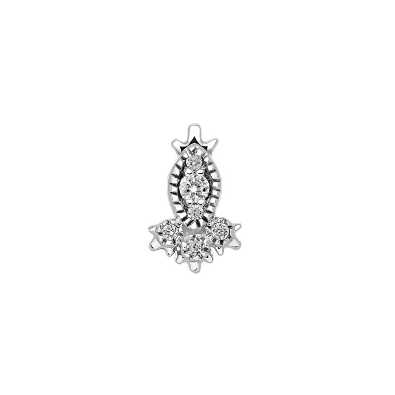 Marquise diamond earring piercing, WHITE GOLD, hi-res