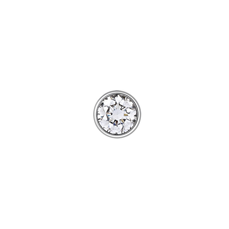Pendiente círculo oro diamante 0,1 ct, J03021-01-10-H, hi-res