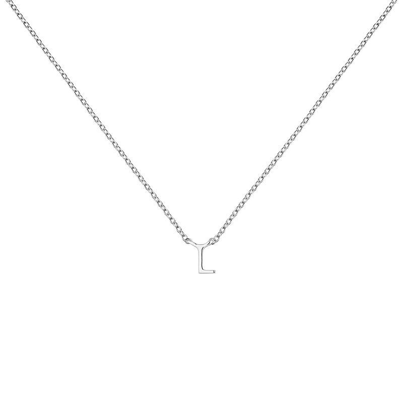 Collier iniciale L or blanc, J04382-01-L, hi-res
