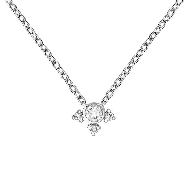 Small silver topaz necklace, J03697-01-WT, hi-res