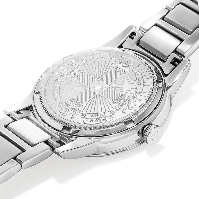 Brera watch bracelet white face., W44A-STSTWH-AXST, hi-res