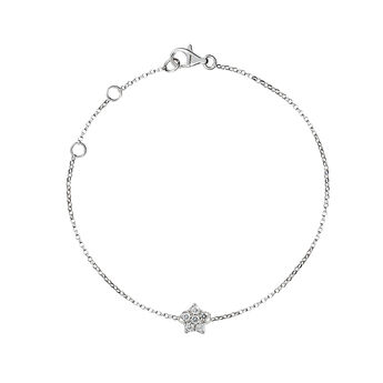 Bracelet étoile or blanc diamants, J01349-01, hi-res