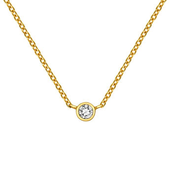 Gold chaton chain, J03435-02, hi-res