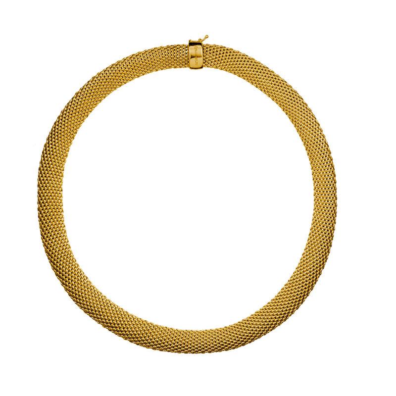 Collar malla mediano oro, J01481-02, hi-res