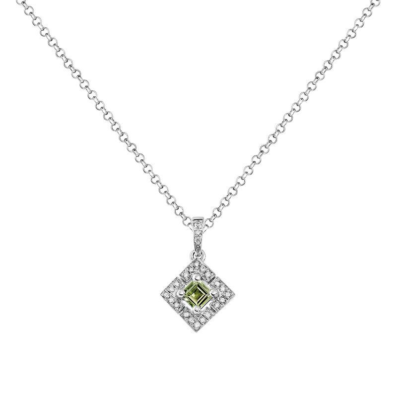 Colgante cuadrado turmalina verde plata, J03774-01-GTU, hi-res