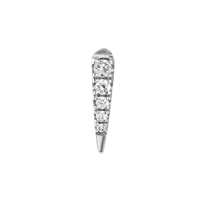 Boucle d'oreille piercing pics diamant 0,05 ct or blanc 9 kt, J03877-01-H, hi-res