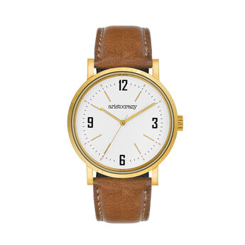 Reloj Brooklyn correa esfera blanca , W0045Q-STWH-LECM, hi-res