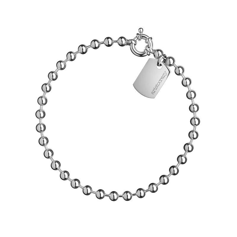 Pulsera bolas medianas plata, J01450-01, hi-res