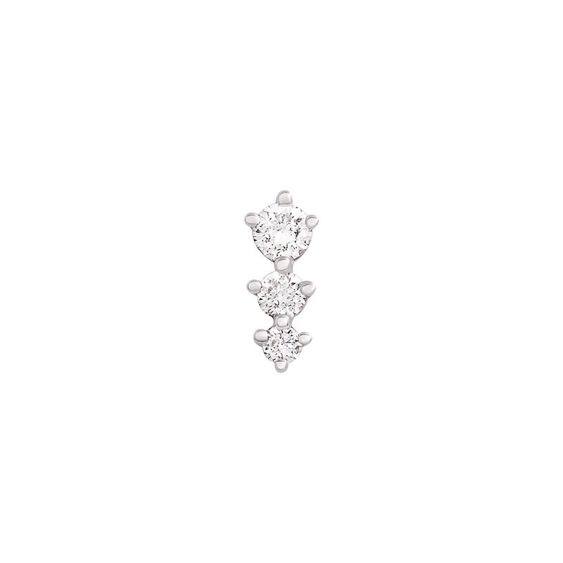 Boucle d'oreille triangle diamants or blanc 0,055 ct, J03356-01-H, hi-res
