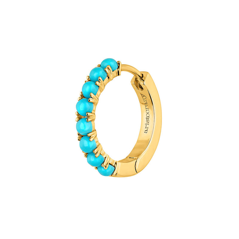 9kt gold turquoise hoop earring, J04695-02-TQ-H, hi-res