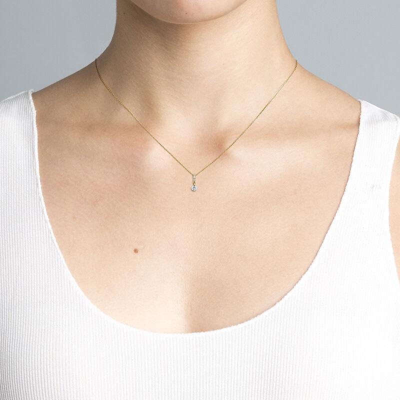 Collar diamantes 0,098 ct oro, J04431-02, hi-res