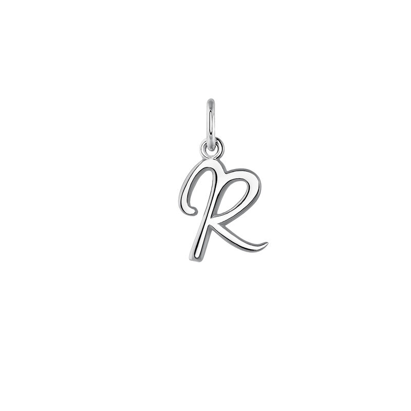 Silver initial R necklace, J03932-01-R, hi-res