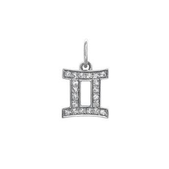 Gemini silver pendant, J03600-01-WT, hi-res