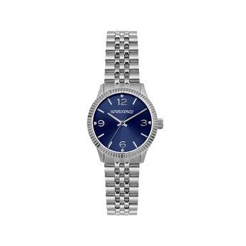 Montre St. Barth bracelet cadran bleu, W30A-STSTDB-AXST, hi-res