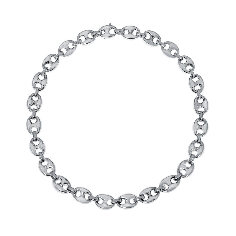 Silver small calabrote long necklace, J01920-01-85, hi-res