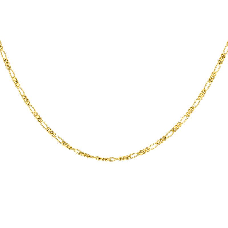 Cadena Fígaro combinada plata recubierta oro, J04613-02, hi-res