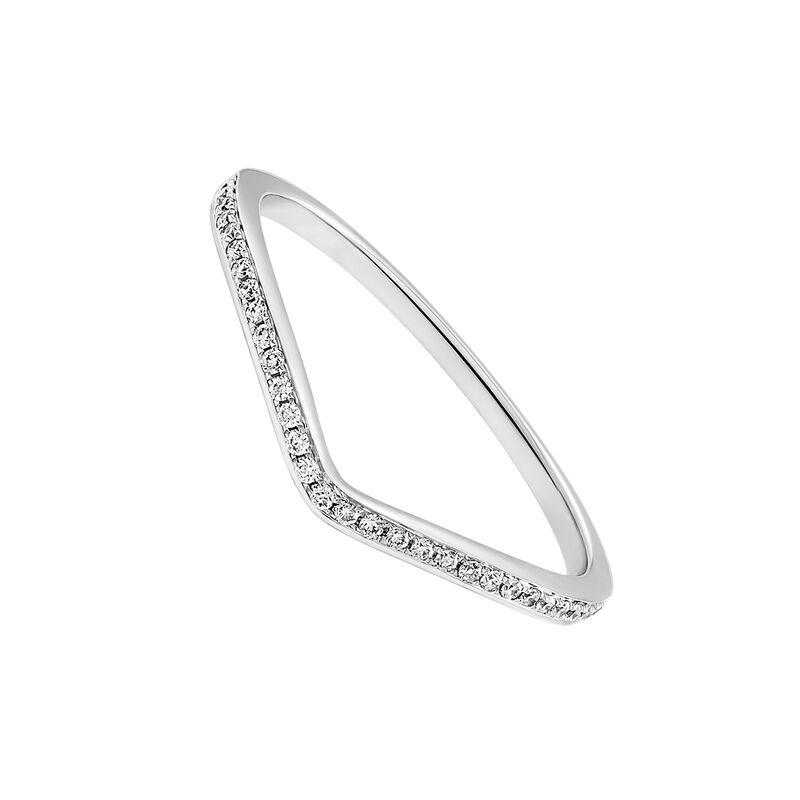 White gold diamonds curve ring 0.09 ct, J03346-01, hi-res