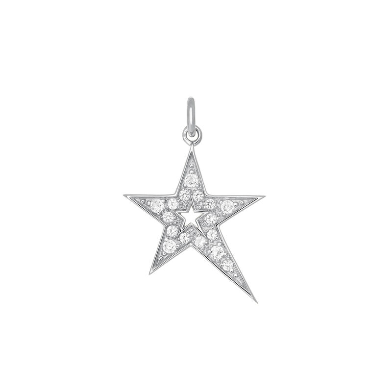 Colgante estrella hueca asimétrica topacio plata, J03972-01-WT, hi-res