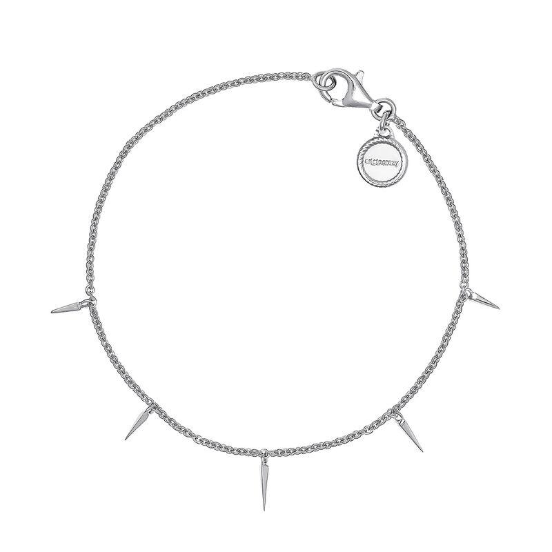 Triangular sterling silver bracelet, J04596-01, hi-res
