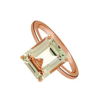 Bague quartz maxi argent plaqué or rose, J01960-03-GQ, hi-res
