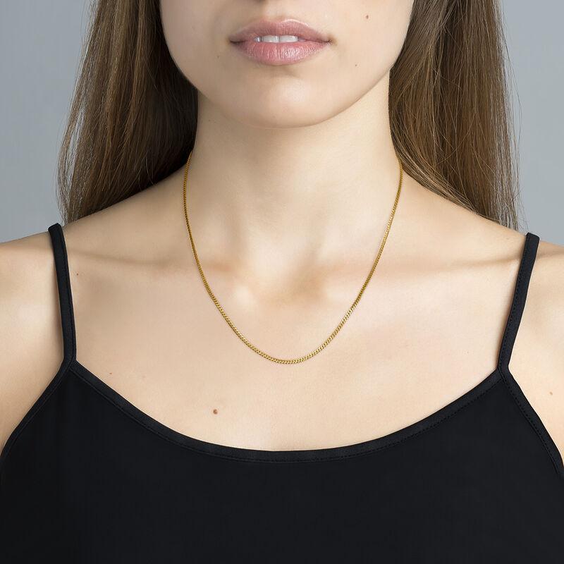 Cadena barbada plata recubierta oro, J04610-02, hi-res