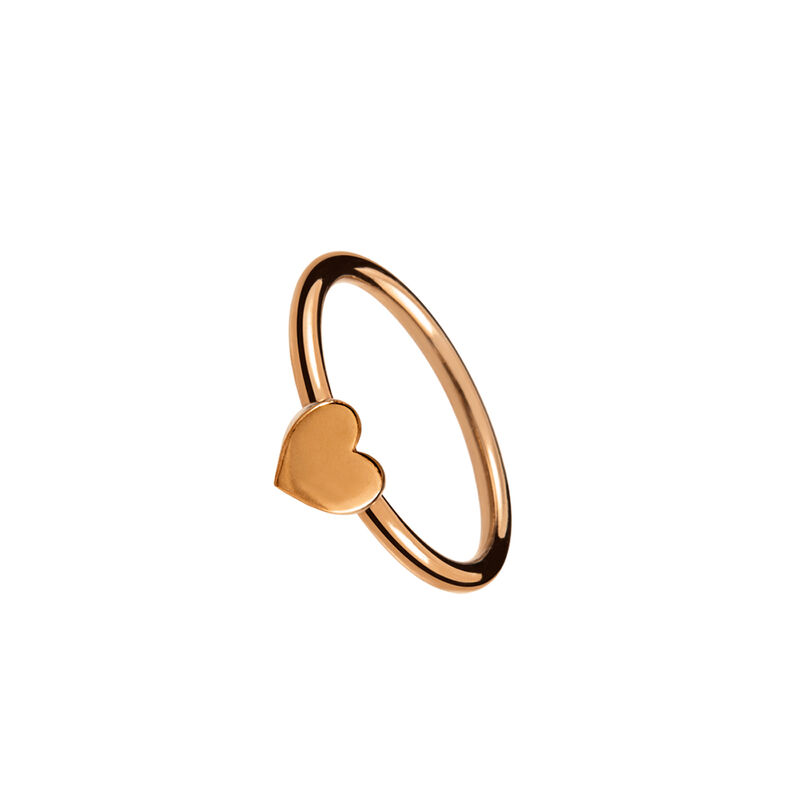 Rose gold heart ring, J01088-03-NEW, hi-res