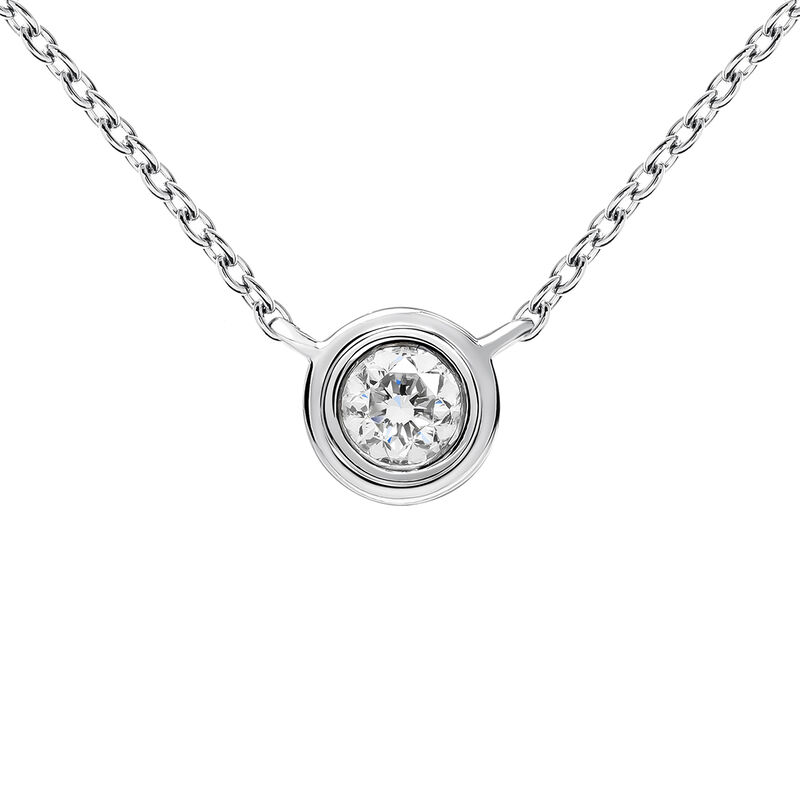 White gold double chaton necklace 0.07 ct, J03407-01-07-GVS, hi-res