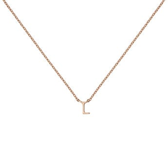 Rose gold Initial L necklace, J04382-03-L, hi-res